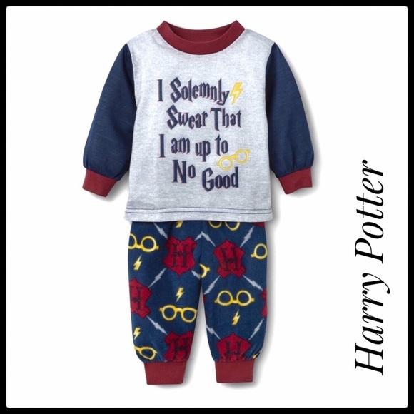 Warner Bros Pajamas Nwt Baby Harry Potter I Solemnly